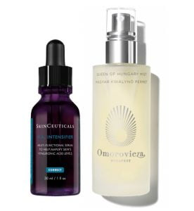 hyaluronic serum and face mist