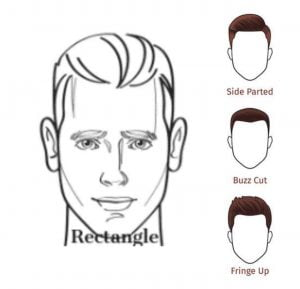 Rectangular face shape
