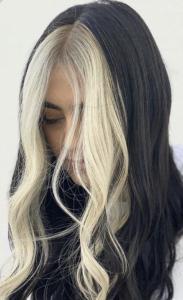 High contrast hair highlights