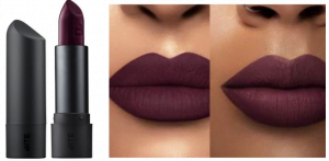 Pretty plum lipstick