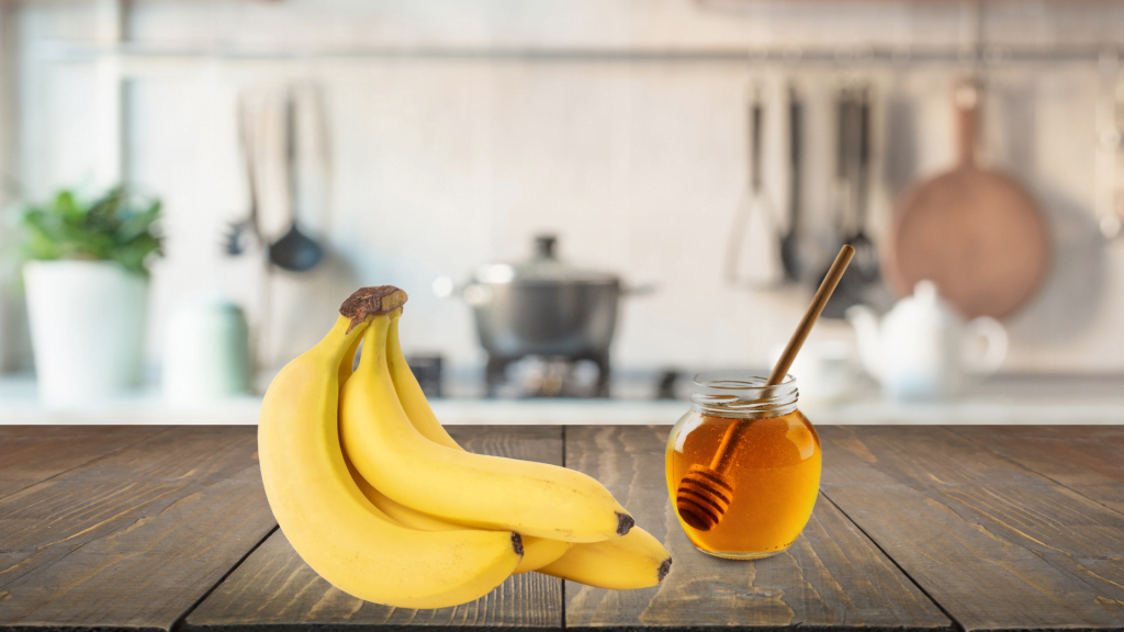 Banana and honey for silky smooth hair